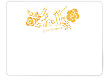 Hello Yellow Personalized Stationery