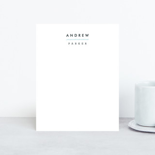 Clean and Crisp Personalized Stationery