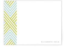 Braided Chevron Personalized Stationery