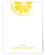 Lemony Fresh Personalized Stationery