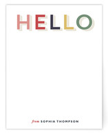 Rainbow Hello Personalized Stationery