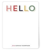 Rainbow Hello Personalized Stationery