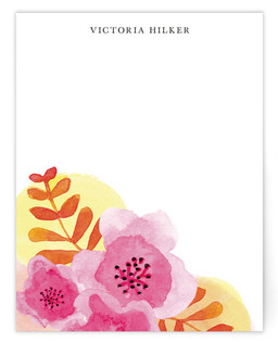 Botanical Watercolor Collage Personalized Stationery