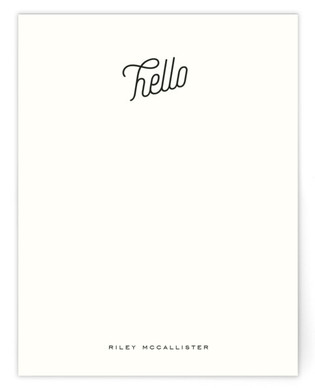 A Simple Hello Personalized Stationery