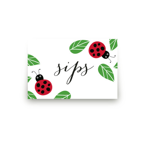 Little Ladybug Table Signs