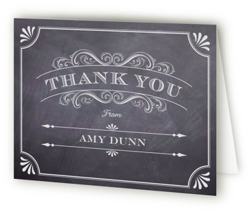 A Chalkboard Marriage Bridal Shower Thank You Cards