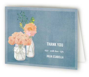 Bouquet D'Amour Bridal Shower Thank You Cards