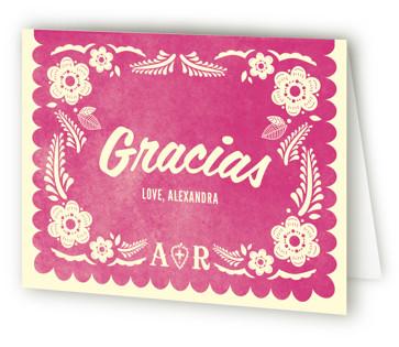 Papel Picado Bridal Shower Thank You Cards