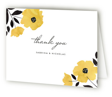 Dark Romance Bridal Shower Thank You Cards