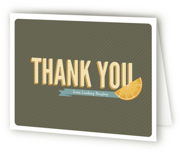 Fresh Mimosa Bridal Shower Thank You Cards