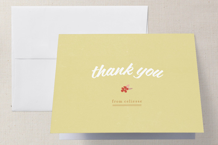 """""""Flower Toss"""" - Bridal Shower Thank You Cards in red by Tyler Tea."""