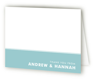 His and Hers Couple's Bridal Shower Thank You Cards