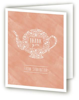 Floral Tea Bridal Shower Thank You Cards