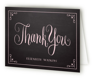 Diamond Chalkboard Bridal Shower Thank You Cards