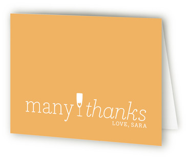 Manis & Mimosas Bridal Shower Thank You Cards