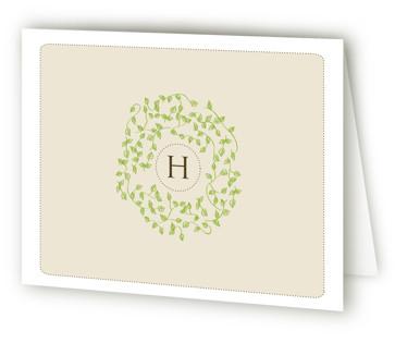 A Bride Wreath Bridal Shower Thank You Cards