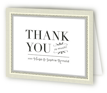 Classic Story Bridal Shower Thank You Cards