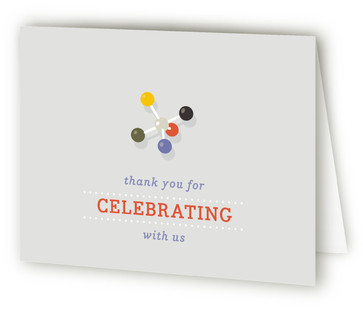Molecular Bond Bridal Shower Thank You Cards