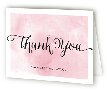 Watercolor Shower Bridal Shower Thank You Cards