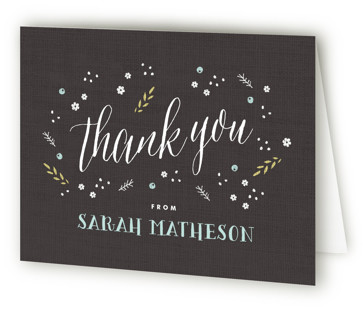 Rustic Charm Bridal Shower Thank You Cards