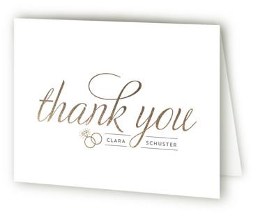 Golden Bride Bridal Shower Thank You Cards