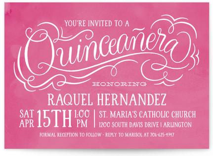 Papel Picado Quinceaera Quinceaera Invitations