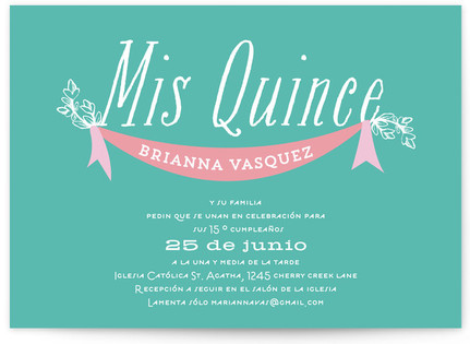Time of my life Quinceaera Invitations