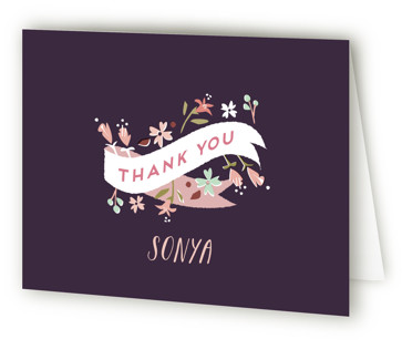 Floral Whimsy Quinceaera Thank You Cards