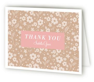 Garden Quince Quinceaera Thank You Cards