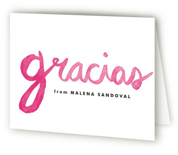 Alegre Quinceaera Thank You Cards