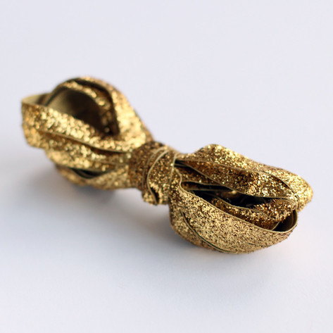 Gold Glitter Velvet Ribbon