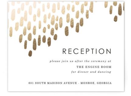 Modern Dash Foil-Pressed Reception Cards