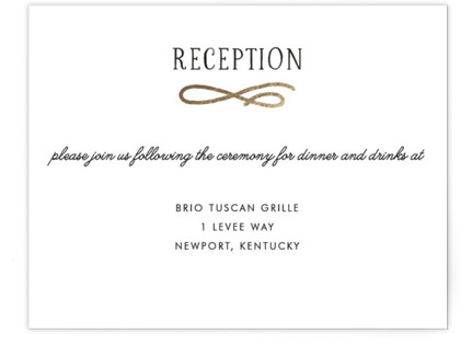 Timeless Foil-Pressed Reception Cards