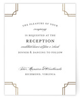 Luxe Border Foil-Pressed Reception Cards