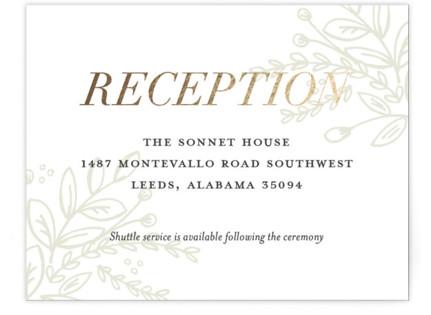 Graceful Foil-Pressed Reception Cards