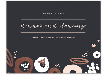 Modern Meadow Foil-Pressed Reception Cards