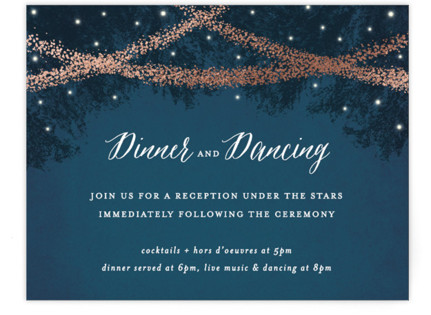 Strands Of Lights Foil-Pressed Reception Cards
