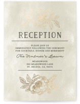 Wedding Etching Foil-Pressed Reception Cards