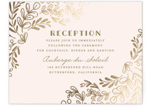 Wedding Vines Foil-Pressed Reception Cards