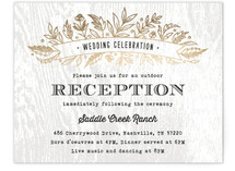 Woodland Romance Foil-Pressed Reception Cards