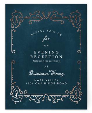 Dainty Deco Foil-Pressed Reception Cards