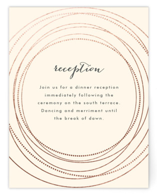 Circled Foil-Pressed Reception Cards
