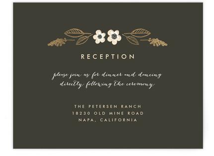 Botanical Wreath Foil-Pressed Reception Cards