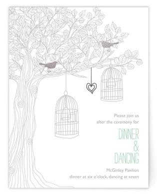 Love Let Loose Foil-Pressed Reception Cards