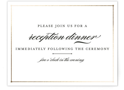 Dapper Amper Foil-Pressed Reception Cards