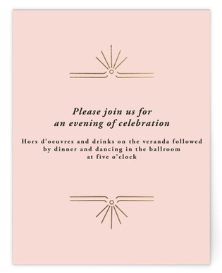 Classic Glam Foil-Pressed Reception Cards