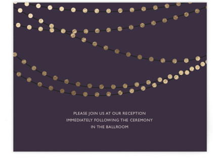 Midnight Vineyard Foil-Pressed Reception Cards