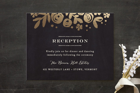 Sun Bleached Florals Foil-Pressed Reception Cards