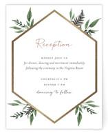 Shade Garden Foil-Pressed Reception Cards