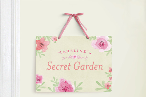 My Secret Garden Room Decor Signs